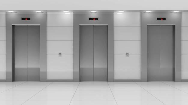Moderne lift hal interieur Premium Foto