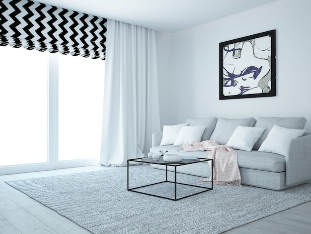 Moderne luxe woonkamer
