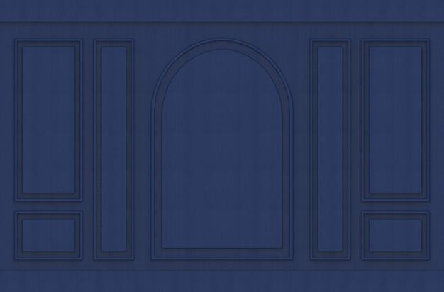 Moderne luxueuze donkerblauwe klassieke vintage muurachtergrond van het patroonontwerp.