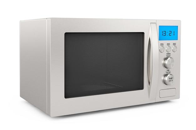 Moderne magnetron op een witte achtergrond