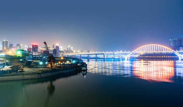 Moderne metropoolshorizon, chongqing, china,
