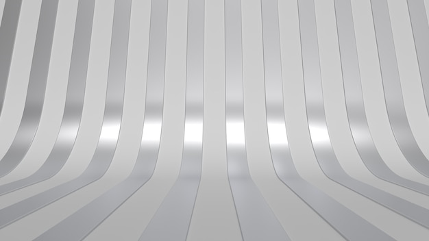 Moderne minimale studio achtergrond metaal eenvoudig 3d render