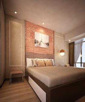 Moderne minimalistische bakstenen muur achtergrond interieurontwerp