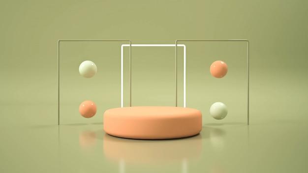 Moderne minimalistische mockup-podiumweergave