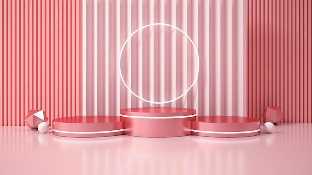 Moderne minimalistische podiumweergave. 3d illustratie