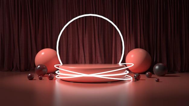 Moderne minimalistische podiumweergave