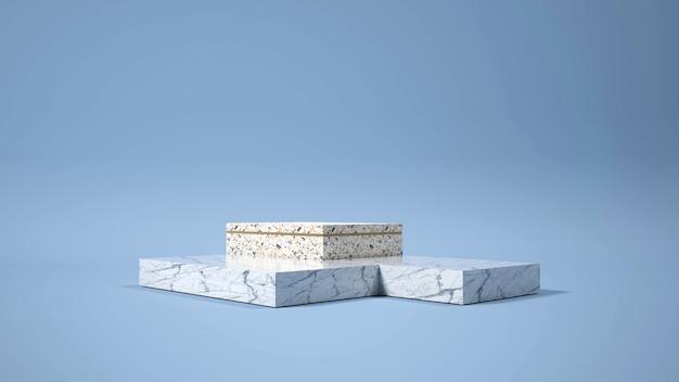 Moderne minimalistische podiumweergave.