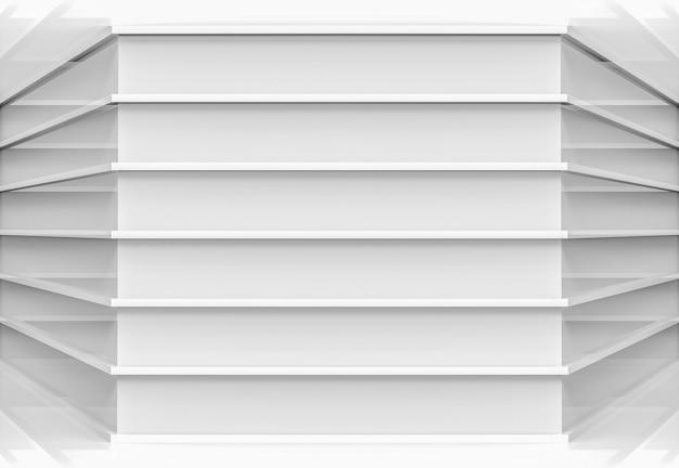 Moderne parallel grijze panelen ontwerpen hoekmuur achtergrond.