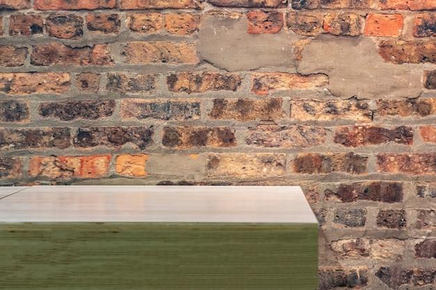 Moderne plank kopie ruimte mockup op eenvoudige achtergrond b