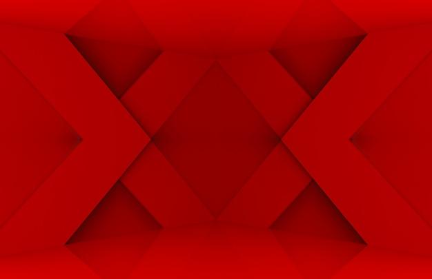 Moderne rode x-muur