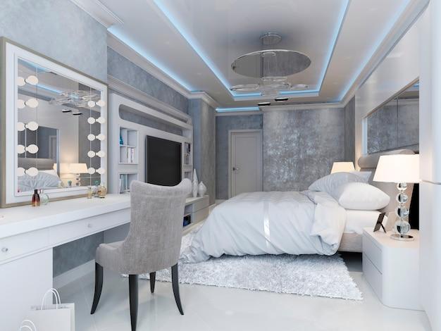 Moderne slaapkamer in art-decostijl