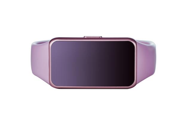 Moderne slimme fitness armband met geïsoleerd op een witte achtergrond. mock-up.
