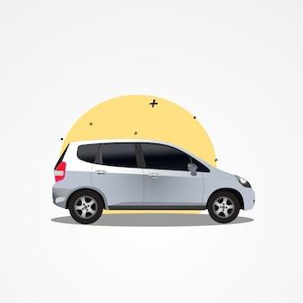 Moderne stedelijke avontuur suv voertuigillustratie premium vector
