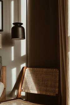Moderne stijlvolle slaapkamer interieur design concept