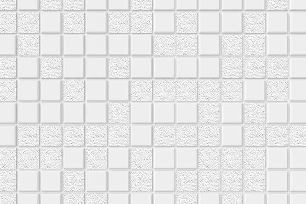 Moderne tegelmuur. 3d-weergave