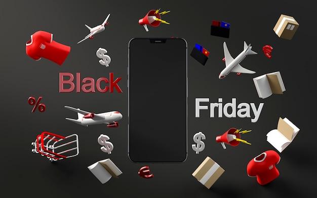 Moderne telefoon voor speciale verkoop op zwarte vrijdag