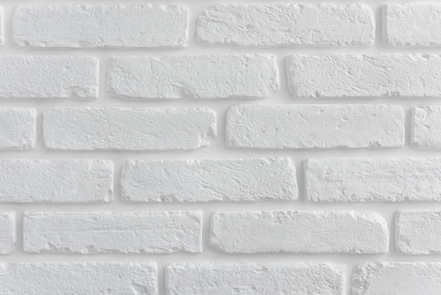 Moderne witte bakstenen muur textuur voor achtergrond.