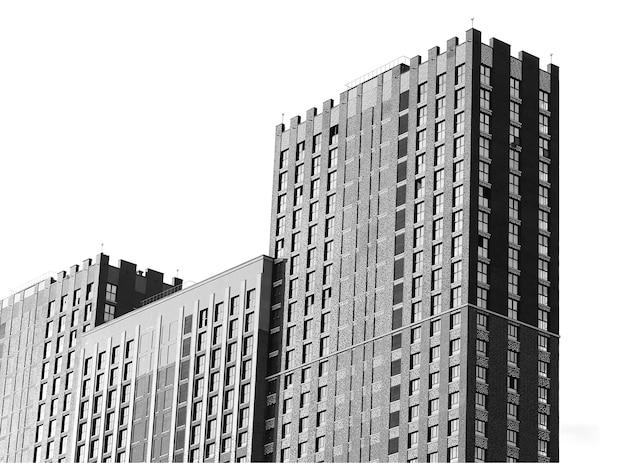Moderne wolkenkrabbers architectuur achtergrond