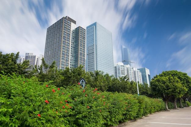 Moderne wolkenkrabbers in guangzhou