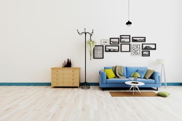 Moderne woonkamer combinatie renderings