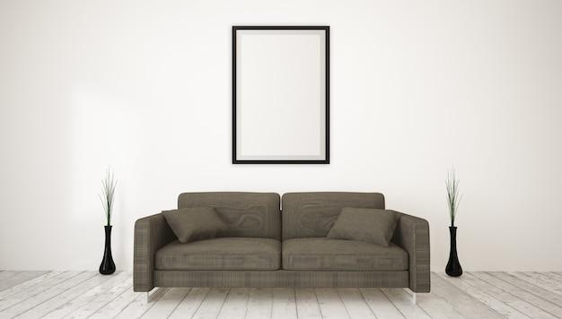 Moderne woonkamer groot frame