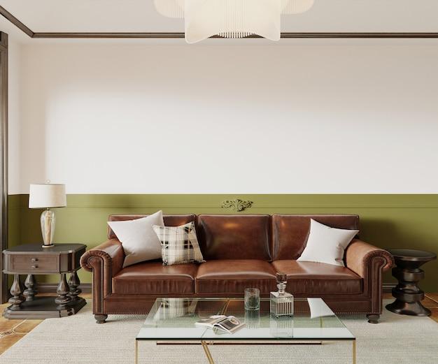 Moderne woonkamer interieur 3d render