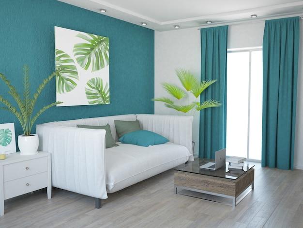 Moderne woonkamer klein appartement