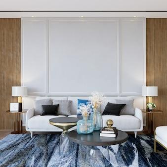 Moderne woonkamer met bank