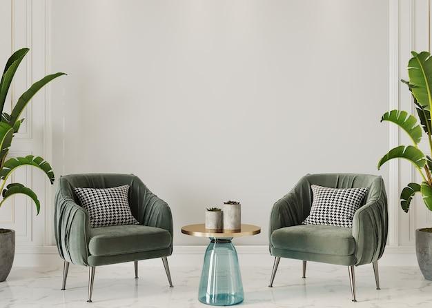 Moderne woonkamer met fauteuil en salontafel