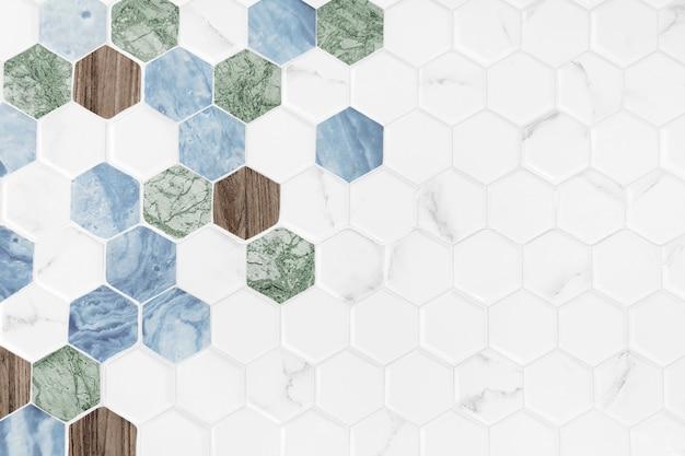 Moderne zeshoek betegelde achtergrond