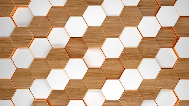 Moderne zeshoekige achtergrond structuurpatroon