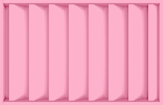 Moderne zoete roze verticale bar ontwerp muur achtergrond.