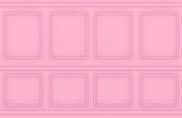 Moderne zoete roze vierkante klassieke muur ontwerp achtergrond.