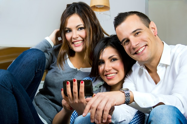 Moderno camara pelo digitale adolescente