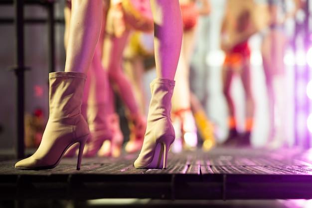 Modeshow van nieuwe collectie lingerie ondergoed