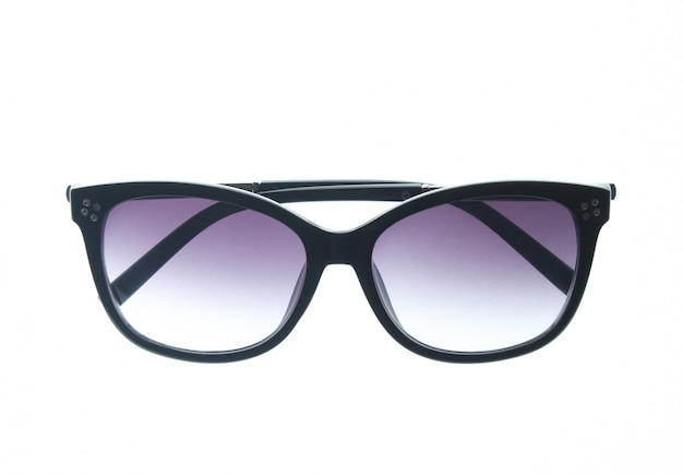 Modieuze zonnebril geïsoleerd. uv bescherming