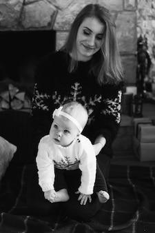 Moeder en baby dochter