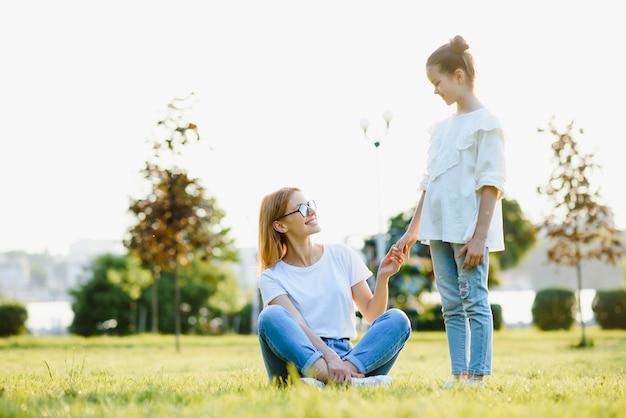 Moeder en dochter hebben plezier