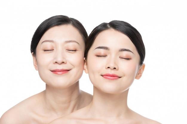Moeder en dochter schoonheid huidverzorging