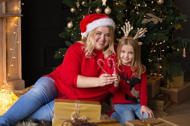 Moeder en dochter vieren kerst