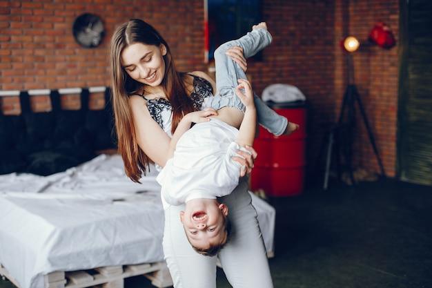 Moeder met zoontje