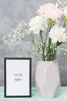 Moederdag frame en bloemen