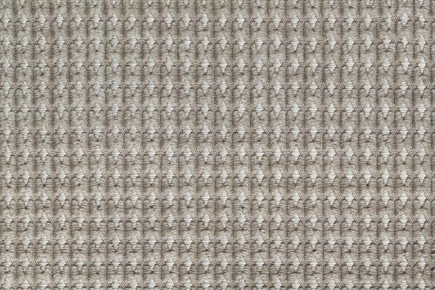 Moeras groene achtergrond van zachte wollige stof dicht omhoog, textuur van textielmacro