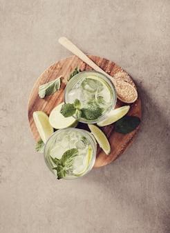 Mojito glas met ingrediënten