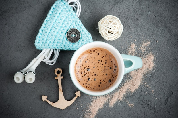Mok warme chocolademelk of cacao