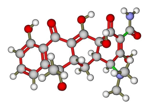 Moleculaire structuur van antibiotica tetracyclineine