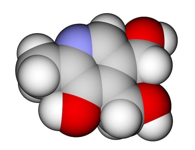 Moleculaire structuur van pyridoxine vitamine b