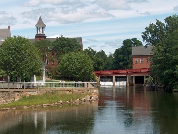 Molens stad nieuwe belknap hampshire rivierwater