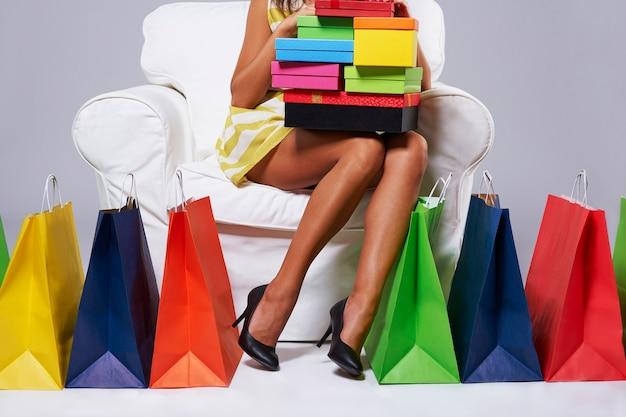 Moment van rust na urenlang winkelen