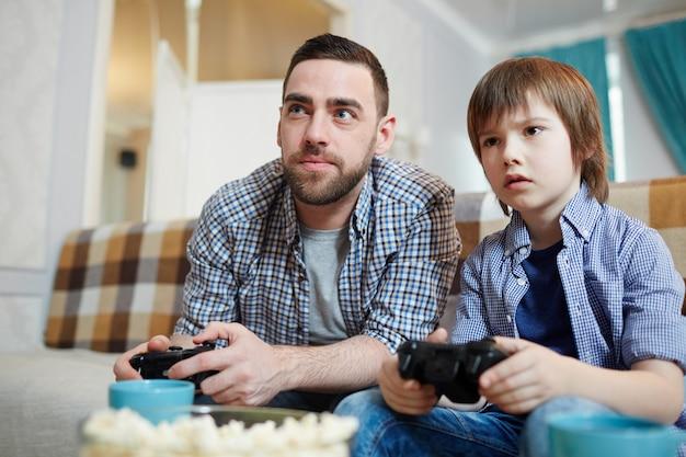 Moment van spelen van videogames
